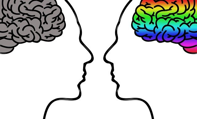 Brains facing each other