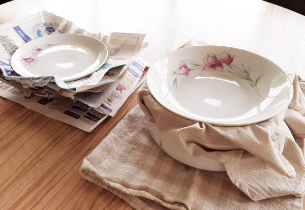 Alternative to bubble wrap for plates