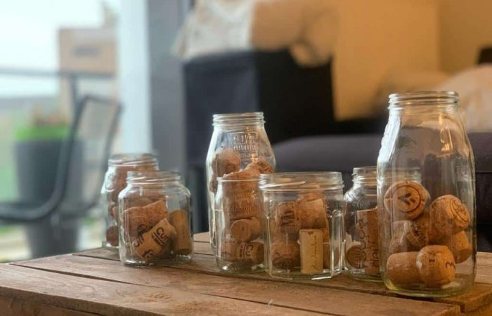 Jars with corks in them