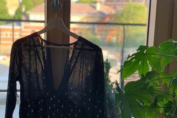 Dress Hanging Next To Plant
