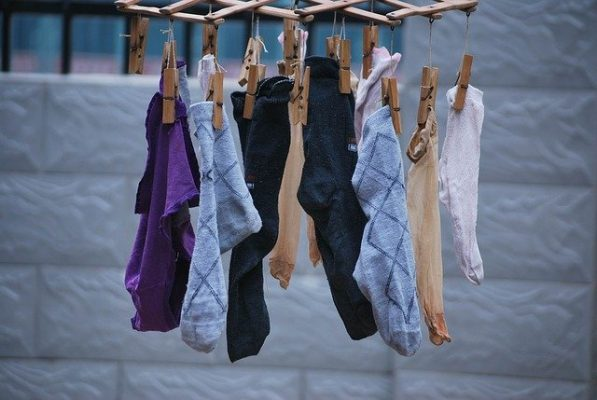 socks drying