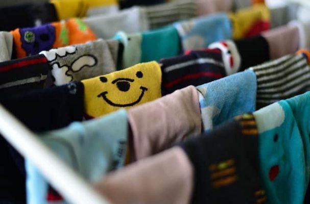socks hanging