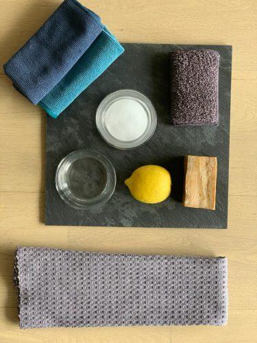 Cloths with Lemon & Soap